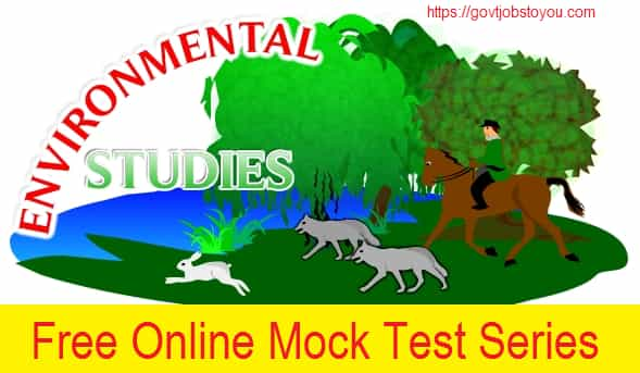 Environmental Studies Online Mock Test Series Paper 2018