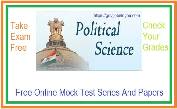 Political Science Online Mock Test Series Papers part 1 Hindi Medium