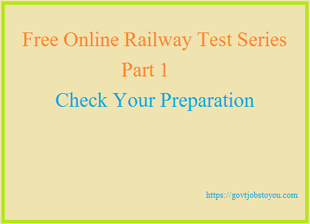 Online Railway Exam Practice Test In Hindi Free Sample Papers RRB Part 1