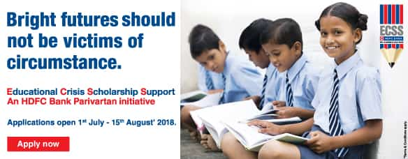 HDFC Bank ECSS Scholarships For 6th Class TO Post Graduation 2018